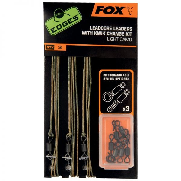 Fox Edges Leadcore Leaders with Kwick Change Kit