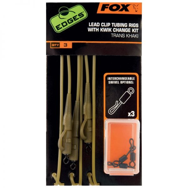 Fox Edges Leadclip Tubing Rigs with Kwick Change Kit