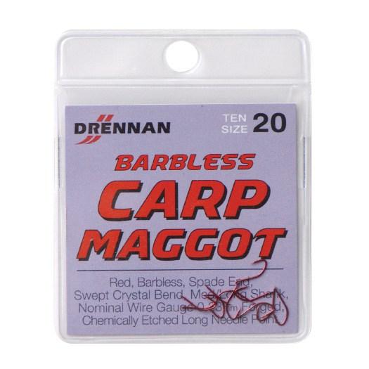 Drennan New Generation Barbless Carp Maggot Spade End Hooks