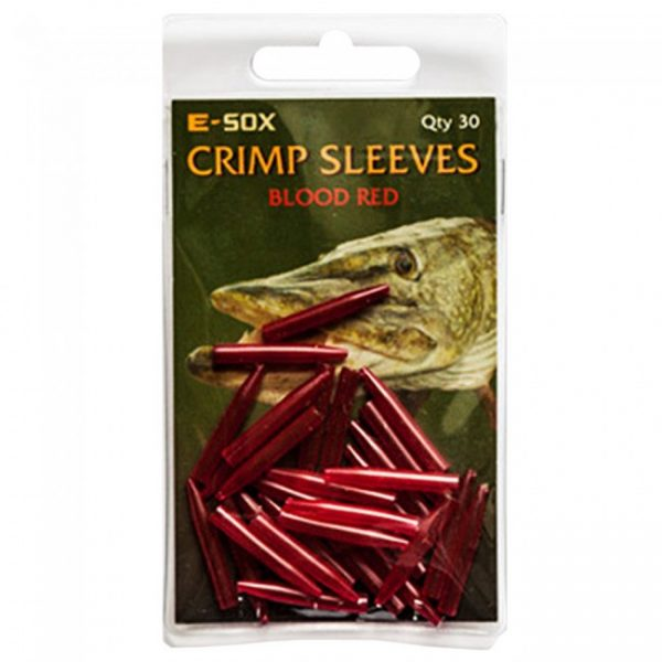 E-Sox Crimp Sleeves are hardwearing, flexible and designed to cover the eyes of hooks, swivels and crimps and create a streamlined and neat setup.  These tapered sleeves are available in translucent Camo Brown for a discrete setup or a more distinctive Bl
