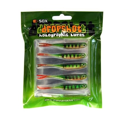Drennan Dropshot Holographic Lures - Micro Fry Split Tail