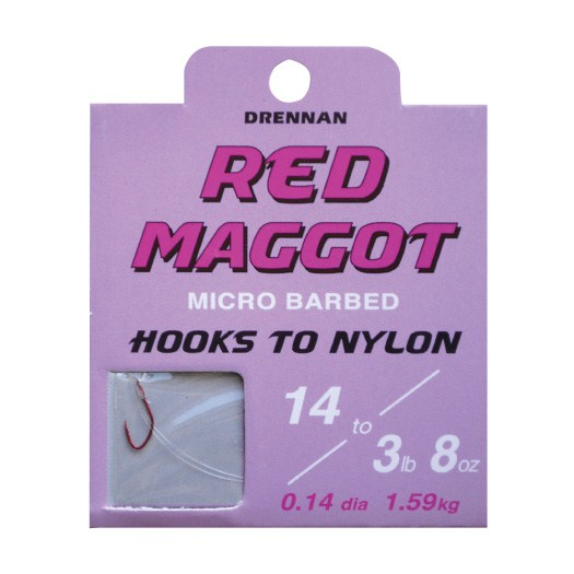 Drennan New Generation Spade Ends To Nylons - Red Maggot