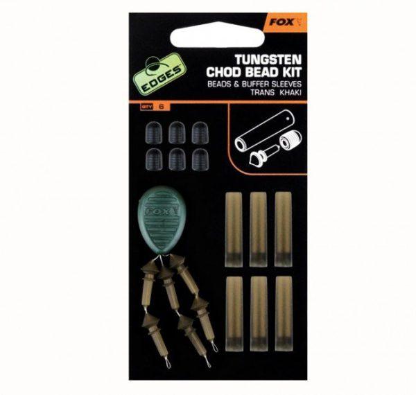 Fox Edges Trans Khaki Tungsten Chod Bead Kit