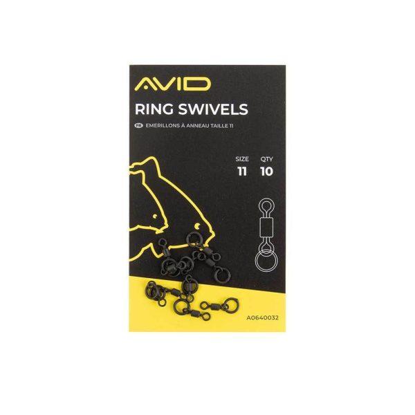 Avid Carp Outline Ring Swivels Size 11