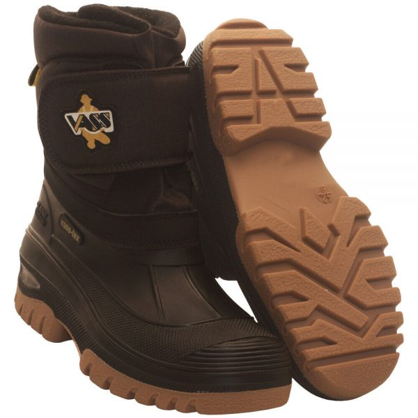 Vass Fleece Lined Boots With Velcro Strap